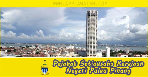 Jawatan Kosong Kerajaan di Pejabat Setiausaha Kerajaan Negeri Pulau Pinang
