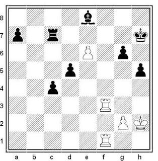 Posición de la partida de ajedrez Kuzmin - Bujovsky (URSS, 1991)