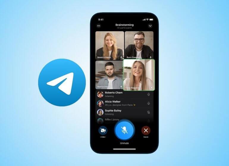 خطوات, لإجراء, مكالمات, فيديو, جماعية, على, تليجرام