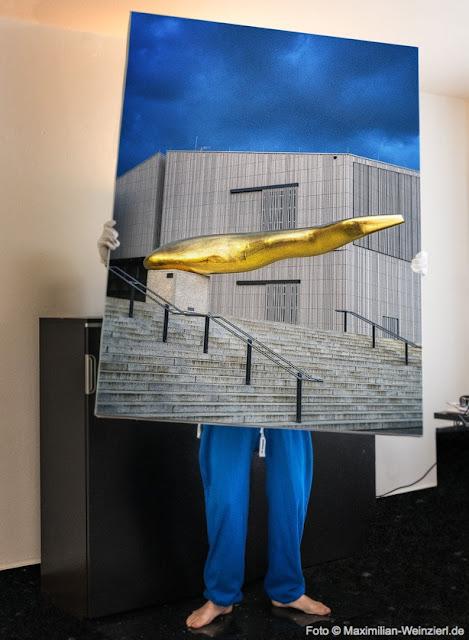 Der Goldene Waller, Regensburg Museum der Bayerischen Geschichte. Leinwanddruck 160 x 120 cm
