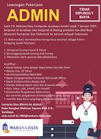 Karir Surabaya di CV. Wahana Data Computer Januari 2021