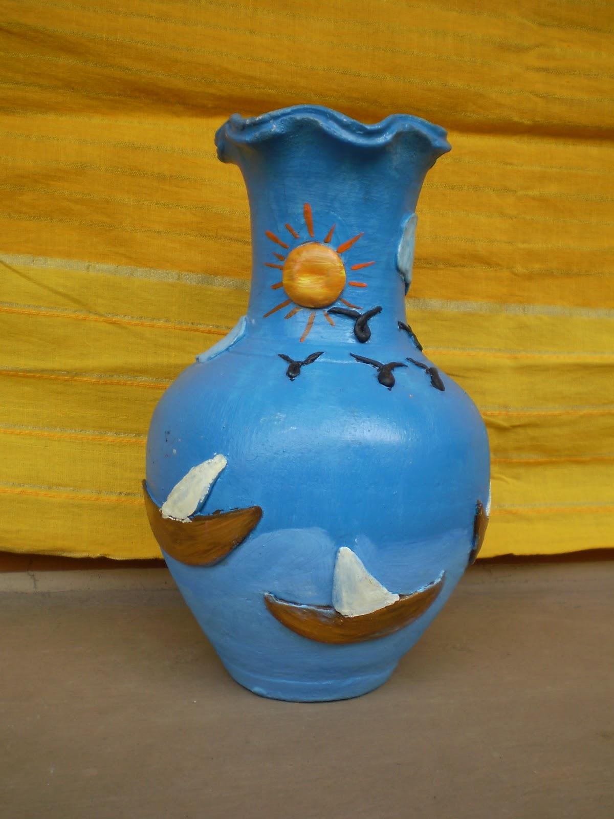 Nifty Thrifty Crafts Pot Painting