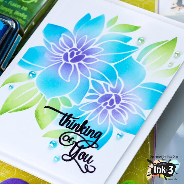 Thinking of You Flora Stenciled Card | Ink On 3