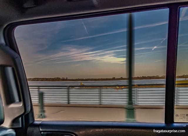 O Rio Mississípi em Memphis, Tenessi