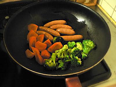 ウインナー野菜炒め