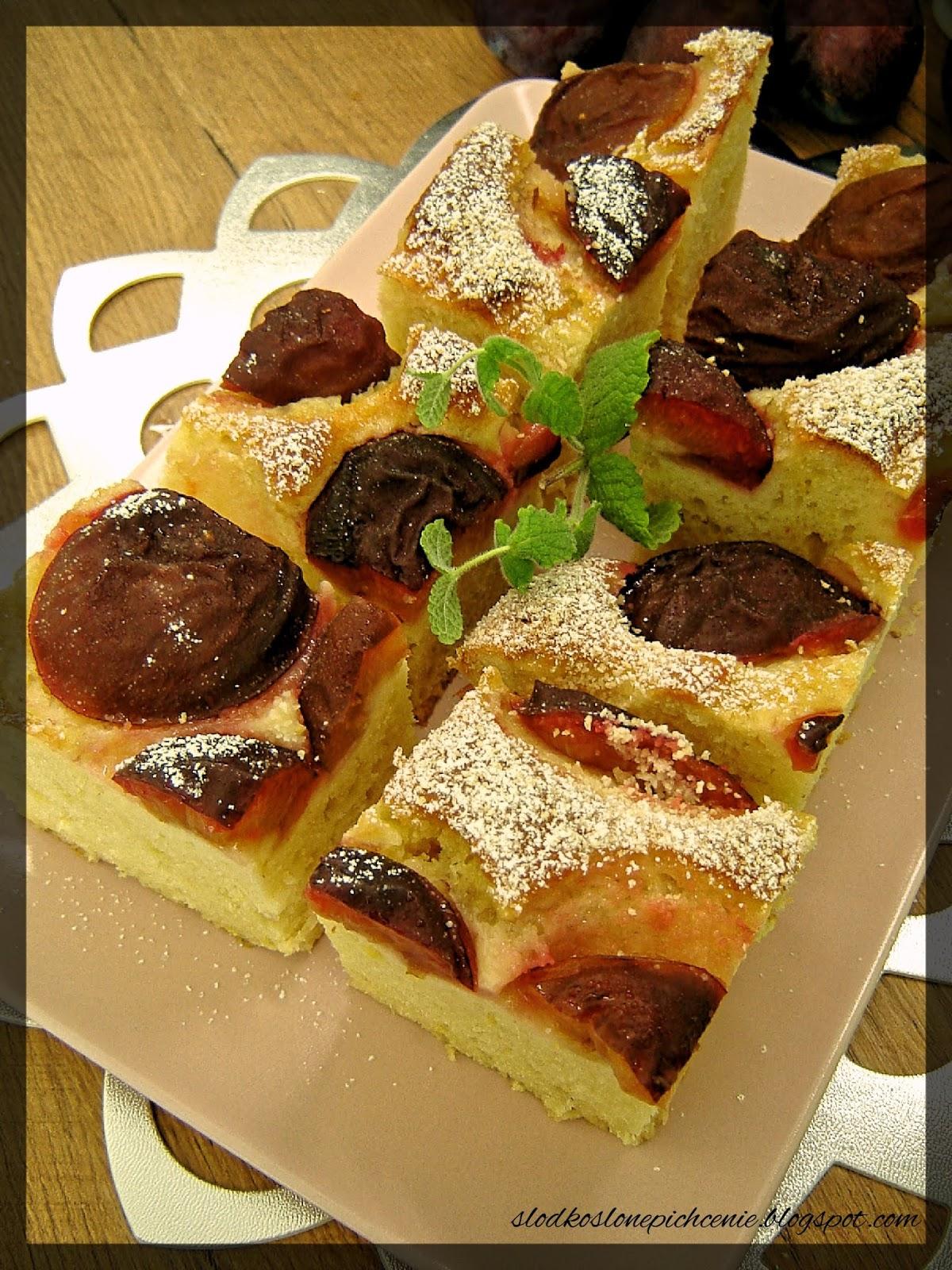 Ciasto ze śliwkami i ricottą