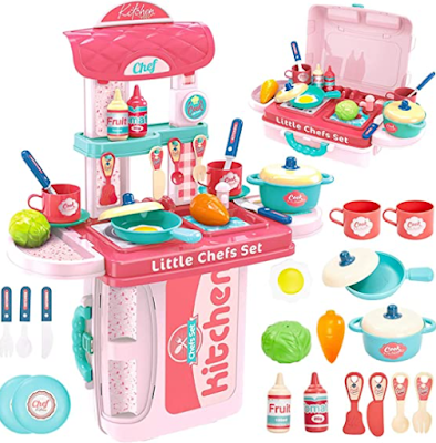 Kitchen play set for girls