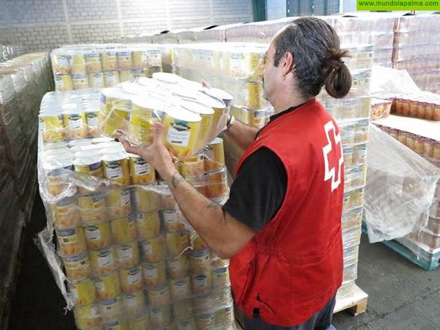 Cruz Roja ultima la distribución de 310.760 kilos de alimentos en la provincia tinerfeña