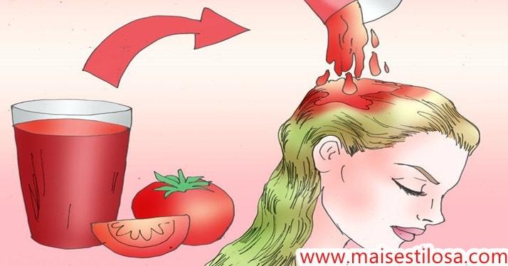 como usar tomate no cabelo