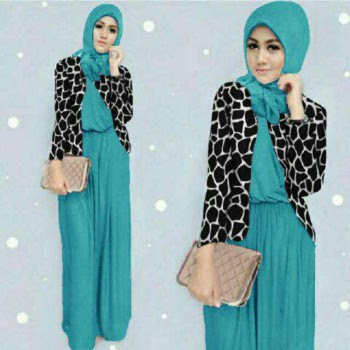 Dress baju Muslim Cantik dan Elegan Modern