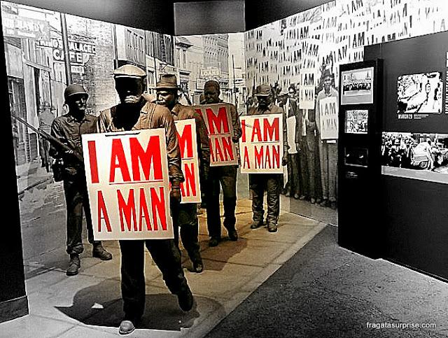 Exposição relembra a greve dos trabalhadores da limpeza urbana de Memphis