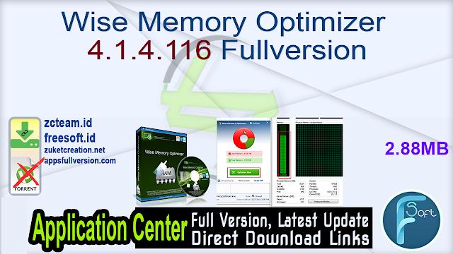 Wise Memory Optimizer 4.1.4.116 Fullversion