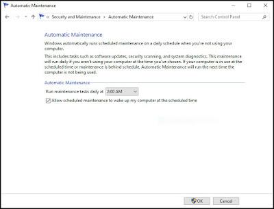 تشغيل صيانة ويندوز 10 Windows الآلية