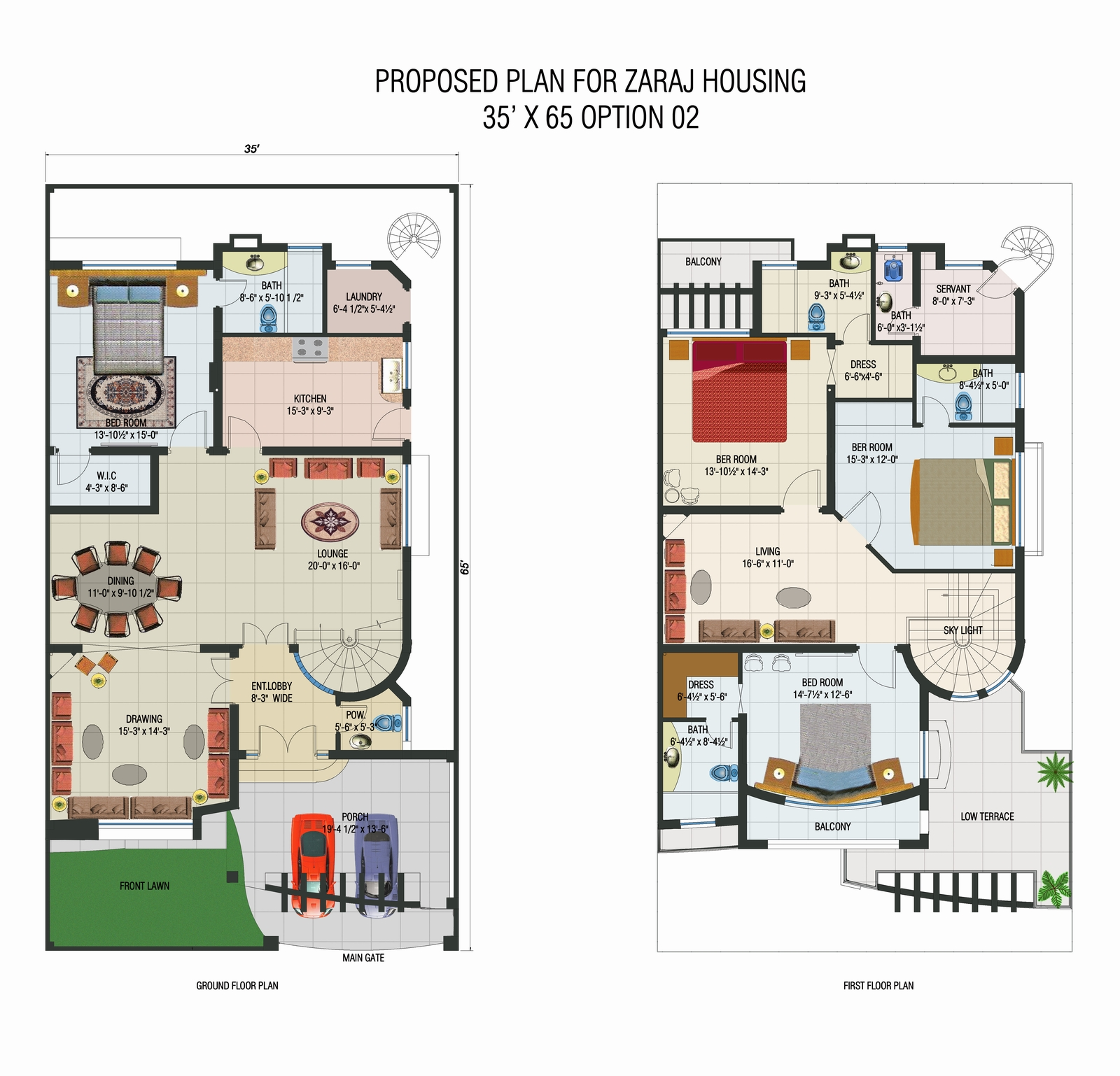 Pakistan 10 Marla House Plan Design