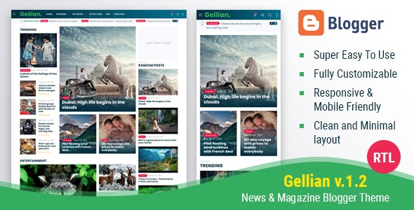 Best News Website Templates for Blogger 2019