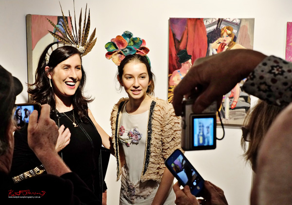 Fantastic headpieces worn the opening night of 'Circus' by Wendy Sharpe. Street Fashion Sydney by Kent Johnson.