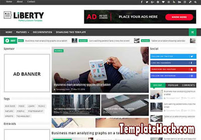 liberty 3 column blogger template