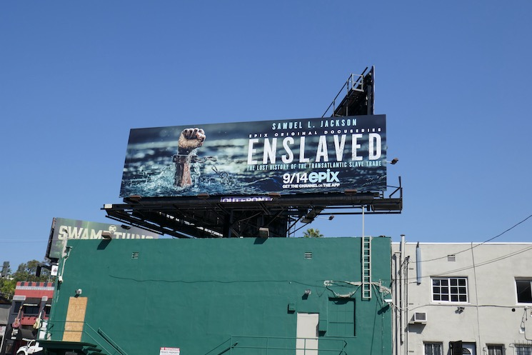 Enslaved series launch billboard