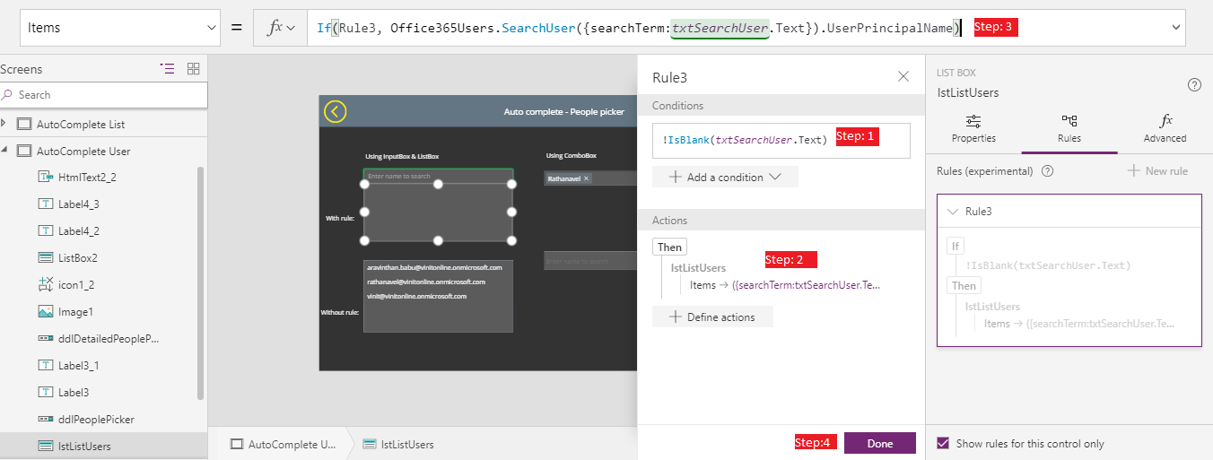 People picker Control in PowerApps
