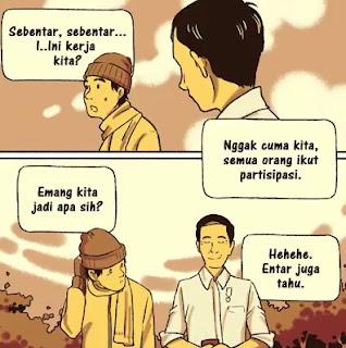 Cerita Komik Jokowi ke Masa Lalu
