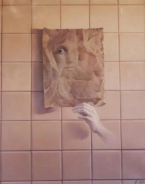 José Marí pintura surrealista arte rostro