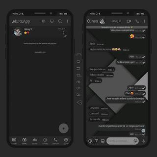 Square Gray Dark Theme For YOWhatsApp & Fouad WhatsApp By Ethel