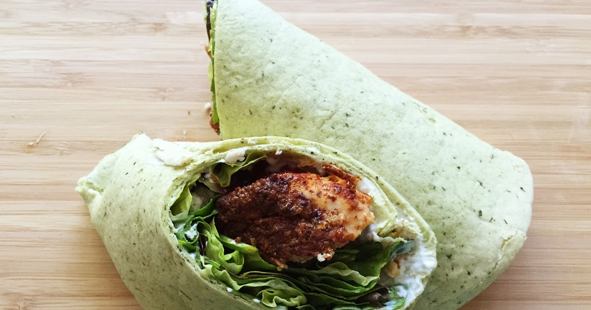 Baharat Chicken Wrap with Fresh Salad Greens, Tomatoes and Feta