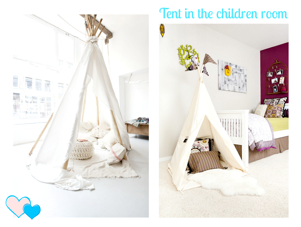 namiot w dziecięcym pokoju