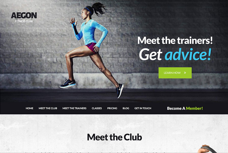 Aegon - Responsive Gym/Fitness Club WordPress Theme