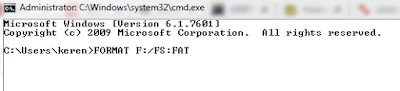 Format SD Carda Melalui CMD