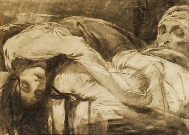 Альфонс Муха - Боснийские легенды. Смерть невесты Гасанага. 1899