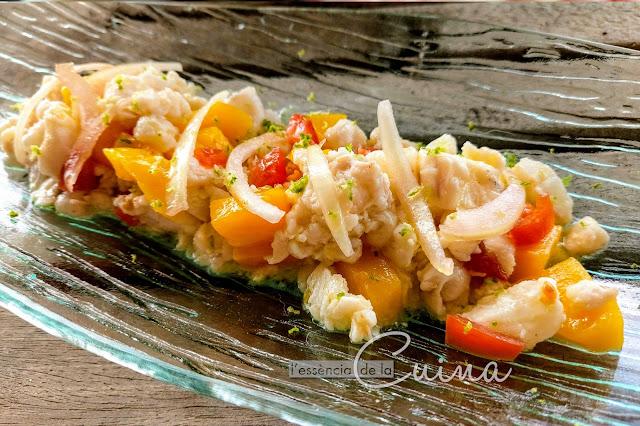 Ceviche, pescado, rape, cebiche, l'essència de la cuina, blog de cuina de la sonia