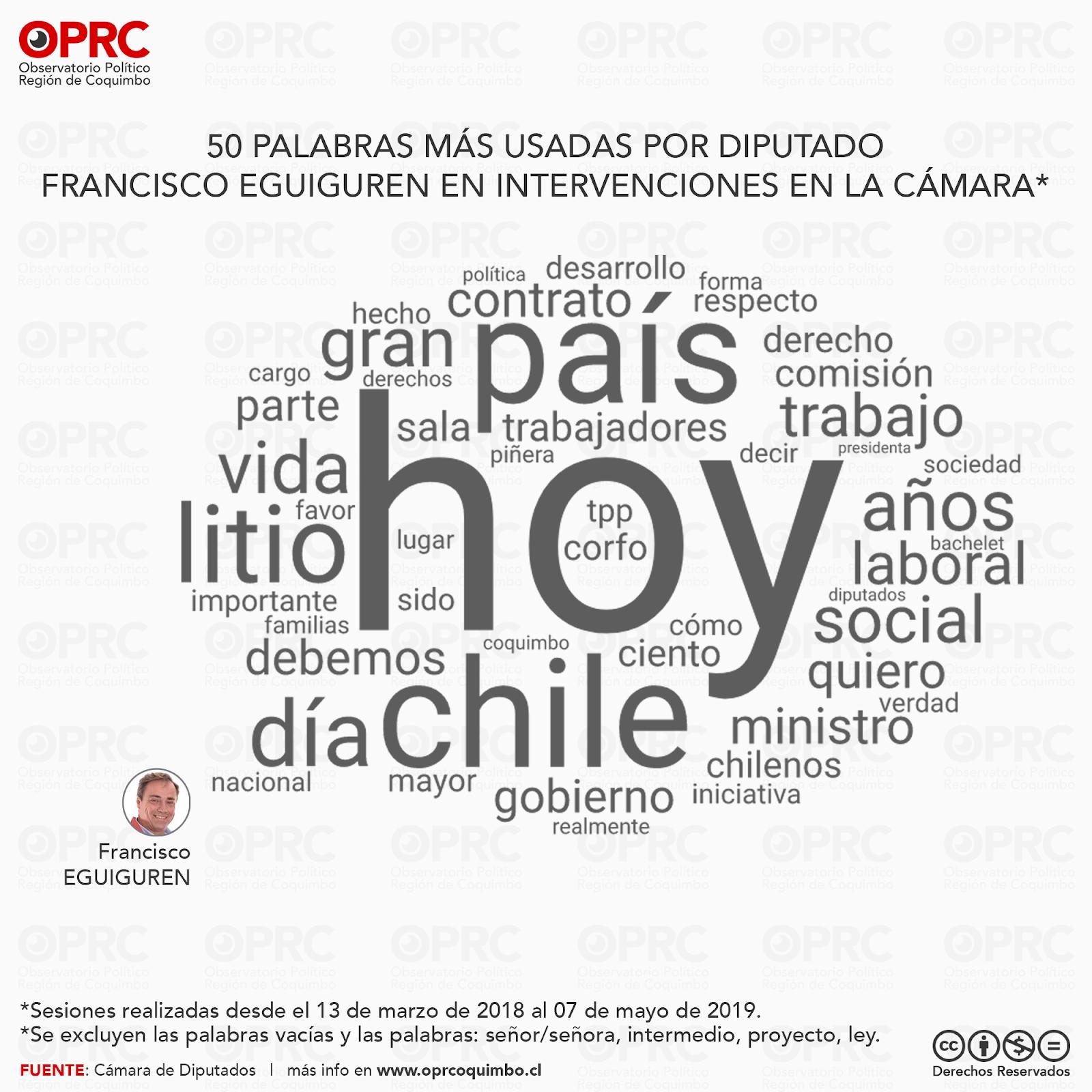 Palabras más usadas por Diputado Francisco Eguiguren en intervenciones en Sala