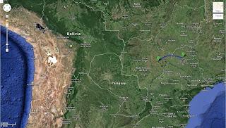 Trajeto Itapagipe/MG/Brasil a Água Clara/MS/Brasil - 417 km.