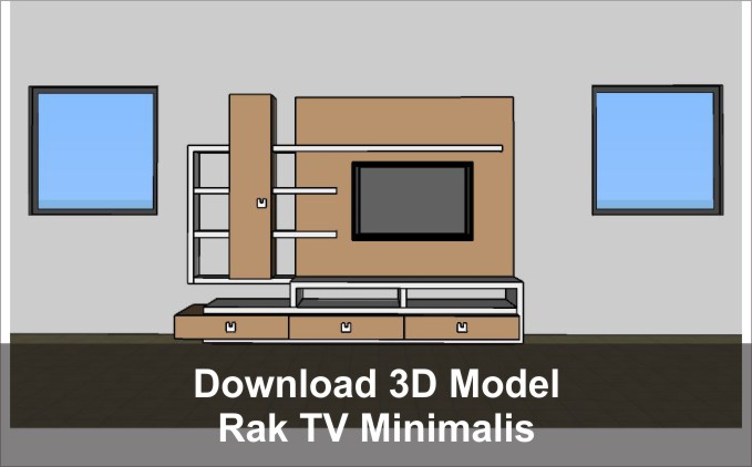 download 3d rak tv minimalis