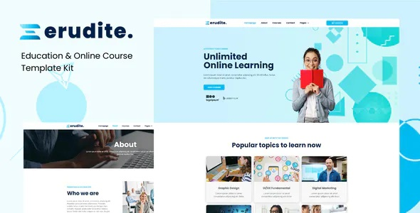 Best Education and Online Course Elementor Template Kit