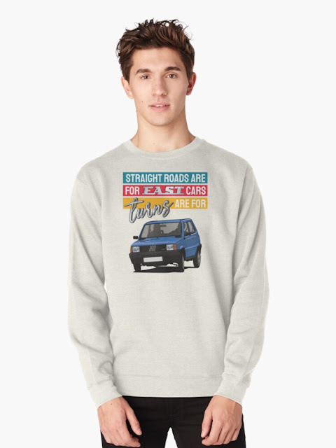 Straight roads are for fast cars, turns are for Fiat Panda shirt