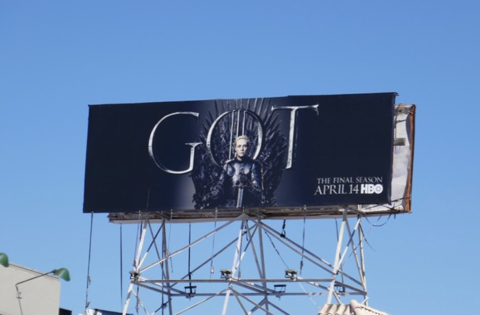 Game of Thrones final season Brienne billboard