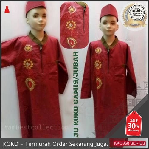 KKO58 AMS256 Baju Koko Gamis Jubah Ala Turkis Anak Anak Murah BMGShop
