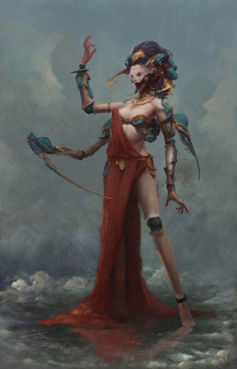 Zhao Huanhua artstation arte ilustrações fantasia ficção mitologia chinesa
