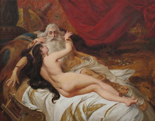 Sulamitka Abishag pracuje w pocie czoła dla króla Dawida