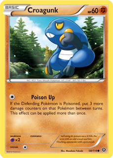 Croagunk Steam Siege Pokemon Card