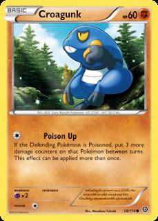 Croagunk Steam Siege Pokemon Card