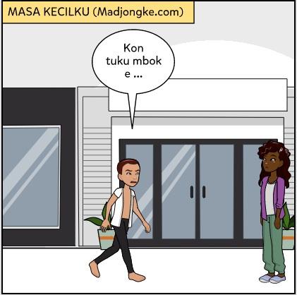 komik masa kecil bahasa jawa disuruh ke warung