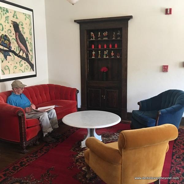 colorful lobby at Hotel Havana in San Antonio, Texas