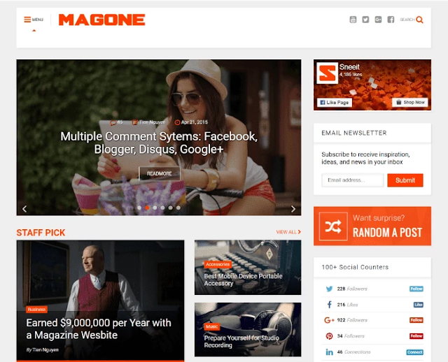magone blogger template, amp blogger template, best free google amp supported blogger templates, amp blogger template free download, seo friendly blogger template