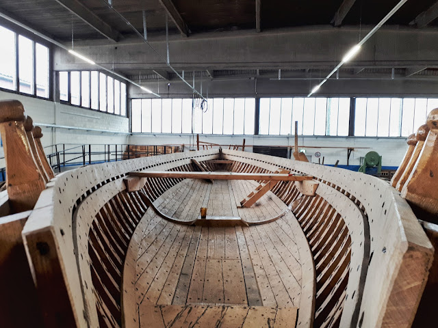 Roman sailing boat used for good delivery along the Rhine