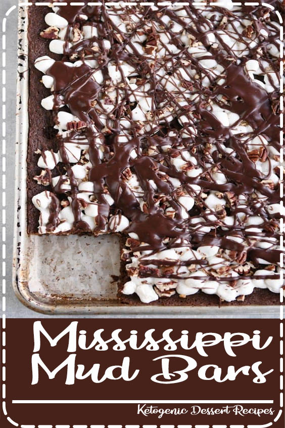 All the decadent flavors of Mississippi Mud bars made sheet pan Mississippi Mud Bars