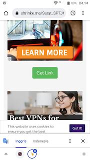 Langkah 5: Cara melewati iklan (bypass ads) Shrinkme.io