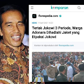 Di Lokasi Bencana, Jokowi Kampanye Tiga Periode